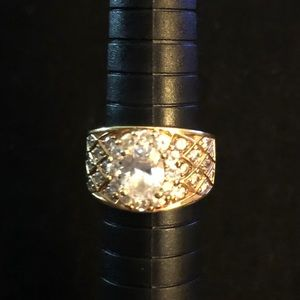 Gold plated 925 Cz ring